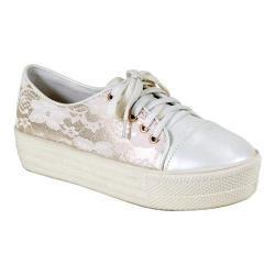 Women's Reneeze Ola-02 High Platform Lace-up Sneaker White PU