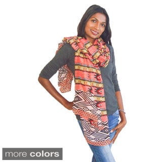 Geometric Tribal Design Fashion Scarf
