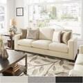 INSPIRE Q Torrington White Linen Nailhead Track Arm Sofa