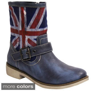 Wanted Women's 'Brit' UK Flag Textile Boots