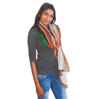 Large Chains and Zippers Design Printed Scarf