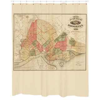 Brooklyn Map Shower Curtain