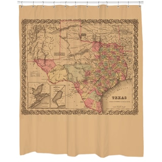 1855 Texas State Map Shower Curtain