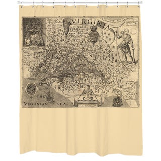 1606 Virginia Map Shower Curtain