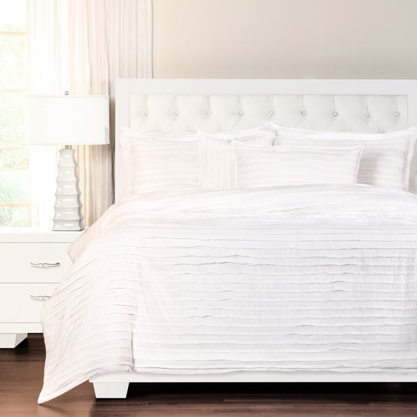 Tattered White Luxury Cotton Duvet Cover Set