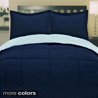 Two-tone Reversible Down Alternative Comforter