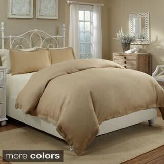 Veratex Spa Linen Cotton Solid 3-piece Duvet Cover Set