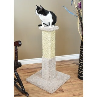 New Cat Condos Premier 34-inch Solid Wood Scratching Post