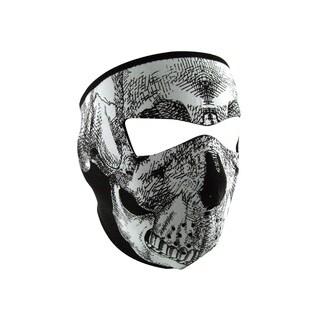 Zan Headgear Full Mask Glow in the Dark Black/ White Skull Face