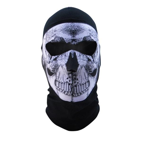 Zan Headgear Balaclava Extreme COOLMAX Full Mask B&W Skull 13890713