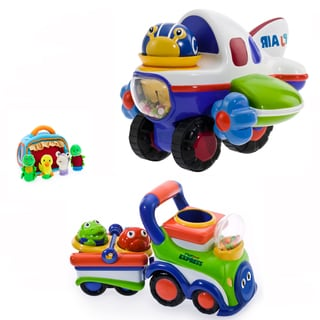 Puddle Jump Spin Plane and Choo Choo Train Express 3-piece Set