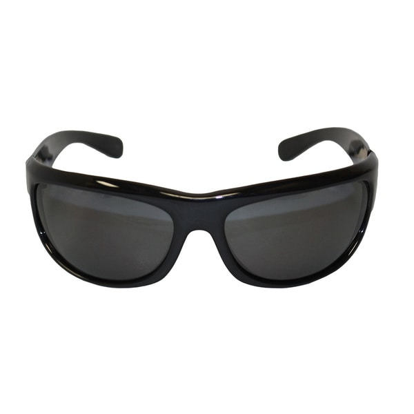 Newport Balboa Shiny Black Frame Grey Polarized Lenses