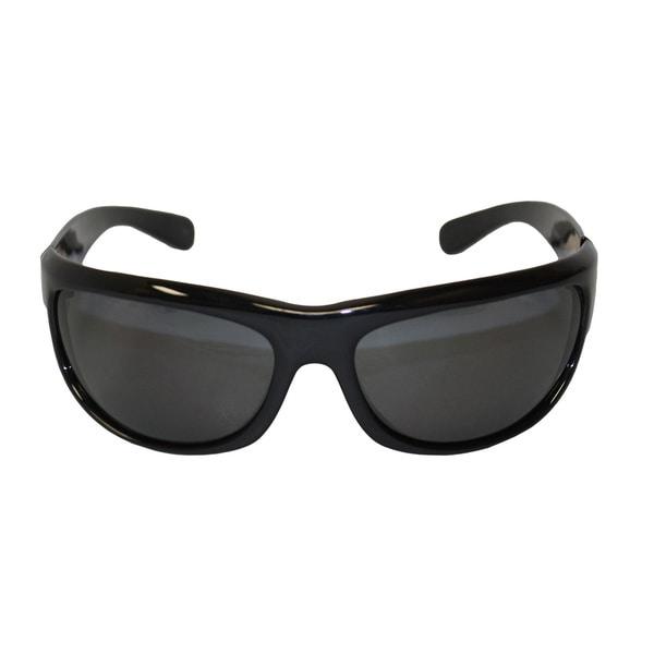 Newport Balboa Shiny Black Frame Grey Polarized Lenses
