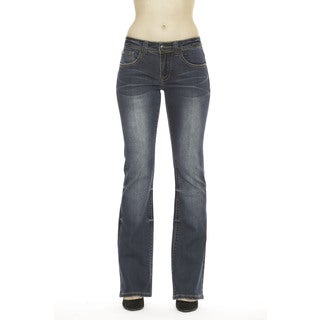 RED by Rose Royce Women's 'Lydia' Dark Wash Boot-cut Jeans