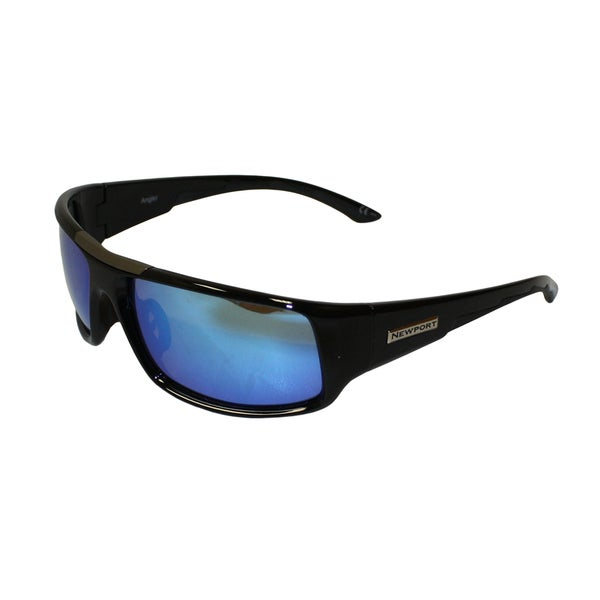 Newport Angler Black Frame Blue Revo Mirror Polarized Lens