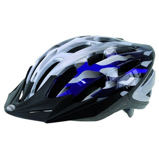 Silver/ Blue In-Mold Helmet