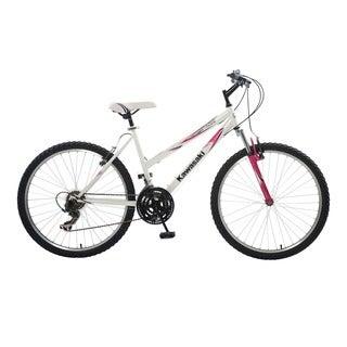 Kawasaki K26G White Hardtail Bike