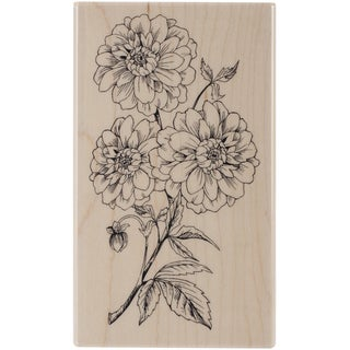 Penny Black Mounted Rubber Stamp 2.75inX4.5in-Dahlia Dance
