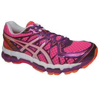 Asics Women's 'Kayano 20' Pink and Purple Running Shoes