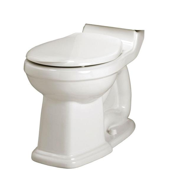 Portsmouth Champion Right-height Round Front Seatless Toilet Bowl