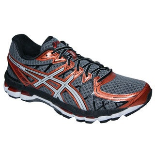 Asics Men's 'Kayano 20' Storm/ White/ Rust Running Shoes