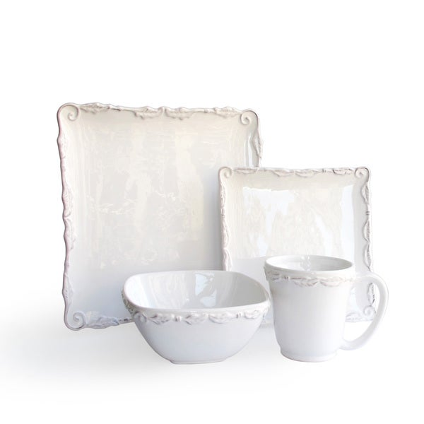 Bianca Wave White 16-piece Dinner Set