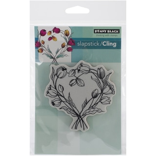 """Penny Black Cling Rubber Stamp 4""""X6"""" Sheet-Entwined"""