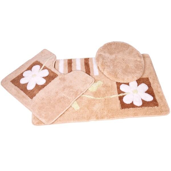 floral 3 bath rug set 16589124 overstock