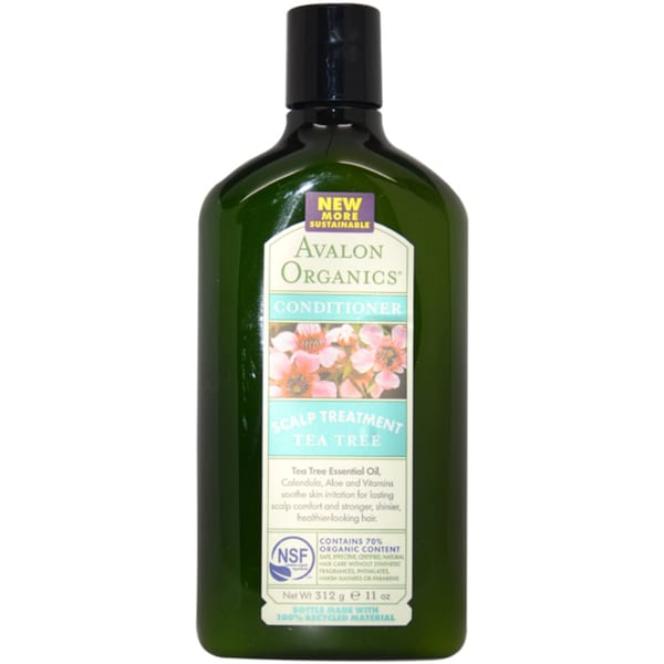 Avalon Organics Scalp Treatment Tea Tree 11-ounce Conditioner