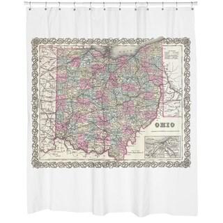 Ohio Map Shower Curtain
