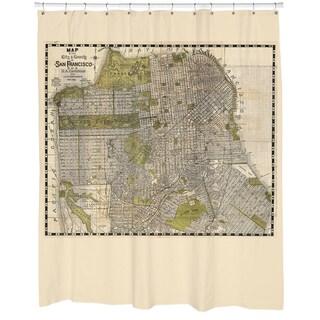 1932 San Francisco Map Shower Curtain