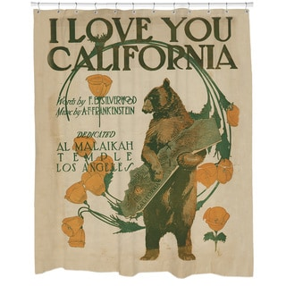 I Love California Shower Curtain