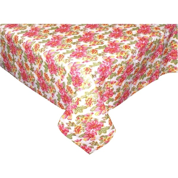 White Floral Table Cloth (India)