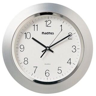 Magnus Silvertone 14-inch Wall Clock