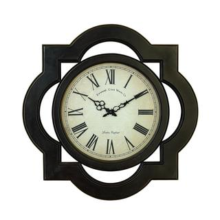 DHP Scalloped Dark Brown Wooden Wall Clock
