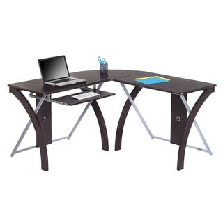 X-text Espresso Finish L-shaped Computer Desk