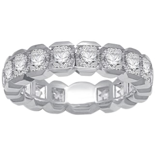 Unending Love 14k White Gold 3ct TDW Certified Box Set Diamond Eternity Band (G-H, I1-I2)