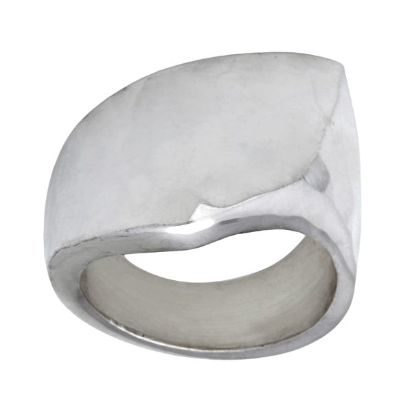 Kele & Co Hammered Geometric Ring made in .925 Sterling Silver