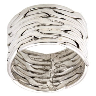 Kele & Co Basket Weave Ring made in .925 Sterling Silver