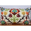 Auburn Textiles Pom Pom Embroidery Decorative Throw Pillow