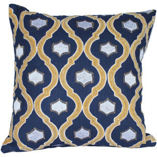 Auburn Textiles 16 x 16-inch Velvet Embroidery Decorative Throw Pillow