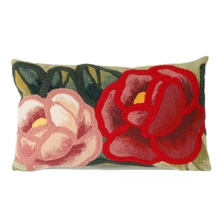 Stitched Flower Decorative Throw Pillow