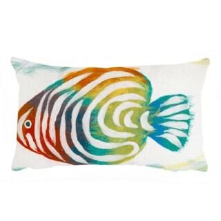 Tropical Fish Indoor-Outdoor Throw Pillow