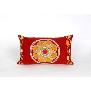 Crochet Indoor-Outdoor Throw Pillow
