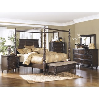 Signature Design by Ashley 'Key Town' Dark Brown Canopy Bed