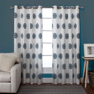 Sedgewick Linen Blend Grommet Top 84-inch Curtain Panel Pair