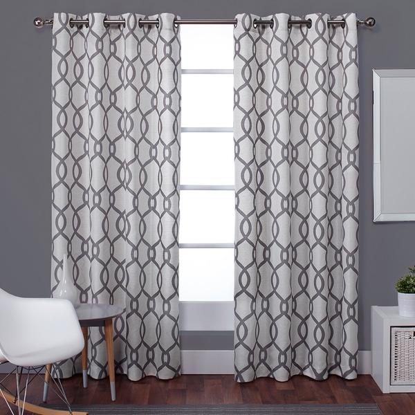 Home Kochi Linen Blend Grommet-top Curtain 84 - 96-inch Length Panel ...