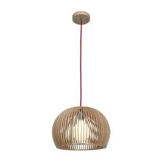 "Access Lighting Kobu Real Wood 13"" inch Dome Pendant"