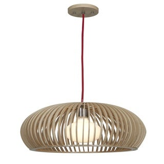 "Access Lighting Kobu Real Wood 16"" inch Dome Pendant"