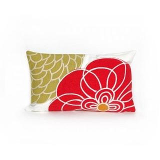 Modern Flower Decorative Indoor/Outdoor Throw Pillow